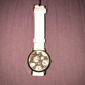 Charming Charlie's white floral watch